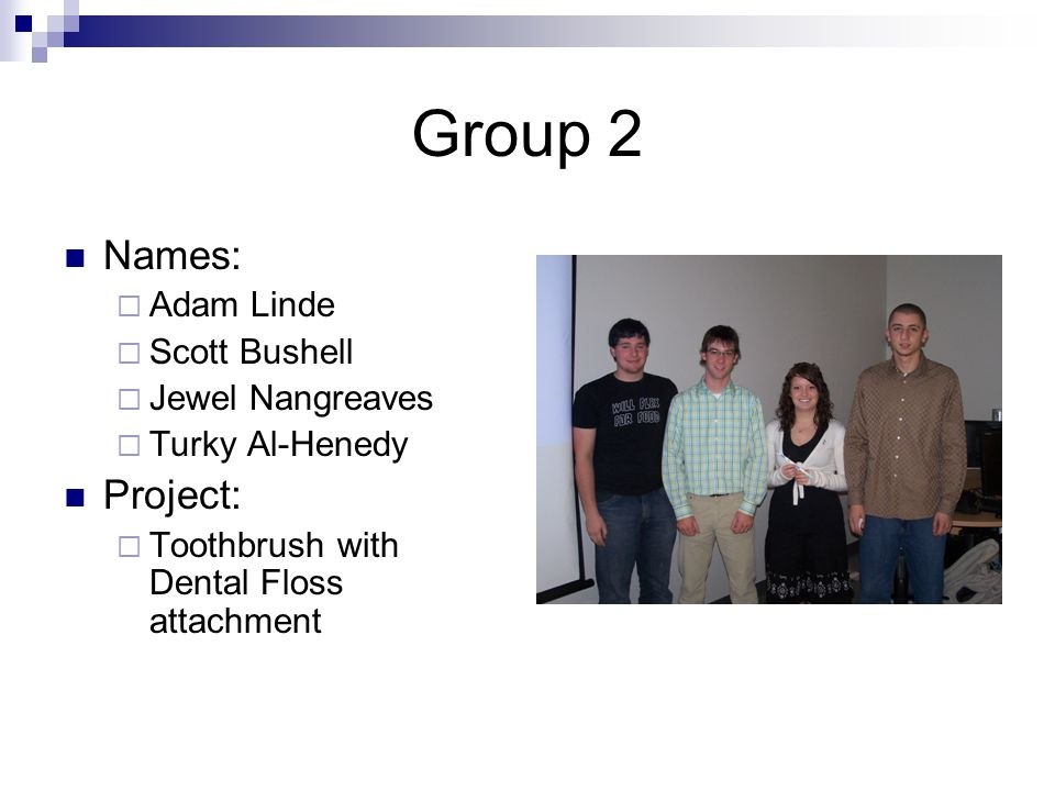 Group 3 Names:  Devin Atkinson  Helen Brennek  Johnathan Moore  Michael Tracey Project:  Heated Seat Cushion