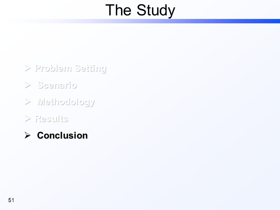 51 The Study