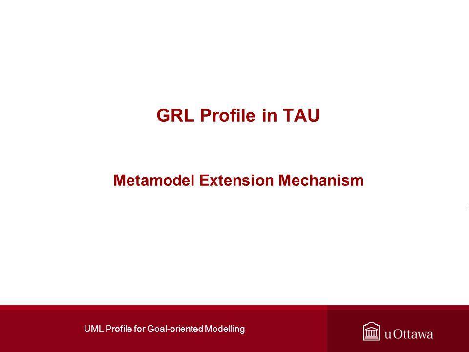GRL Profile in TAU Metamodel Extension Mechanism