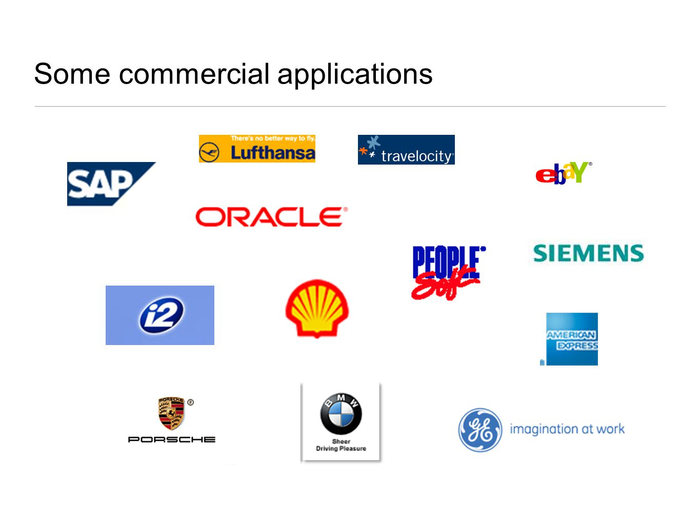 Some commercial applications