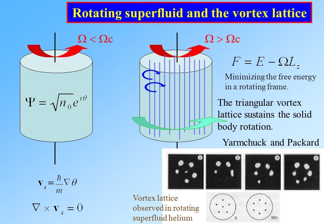 4. Dynamics of quantized vortices in rotating BECs 4-1 Vortex lattice formation Tsubota, Kasamatsu, Ueda, Phys.Rev.A64, 053605(2002) Kasamatsu, Tsubot