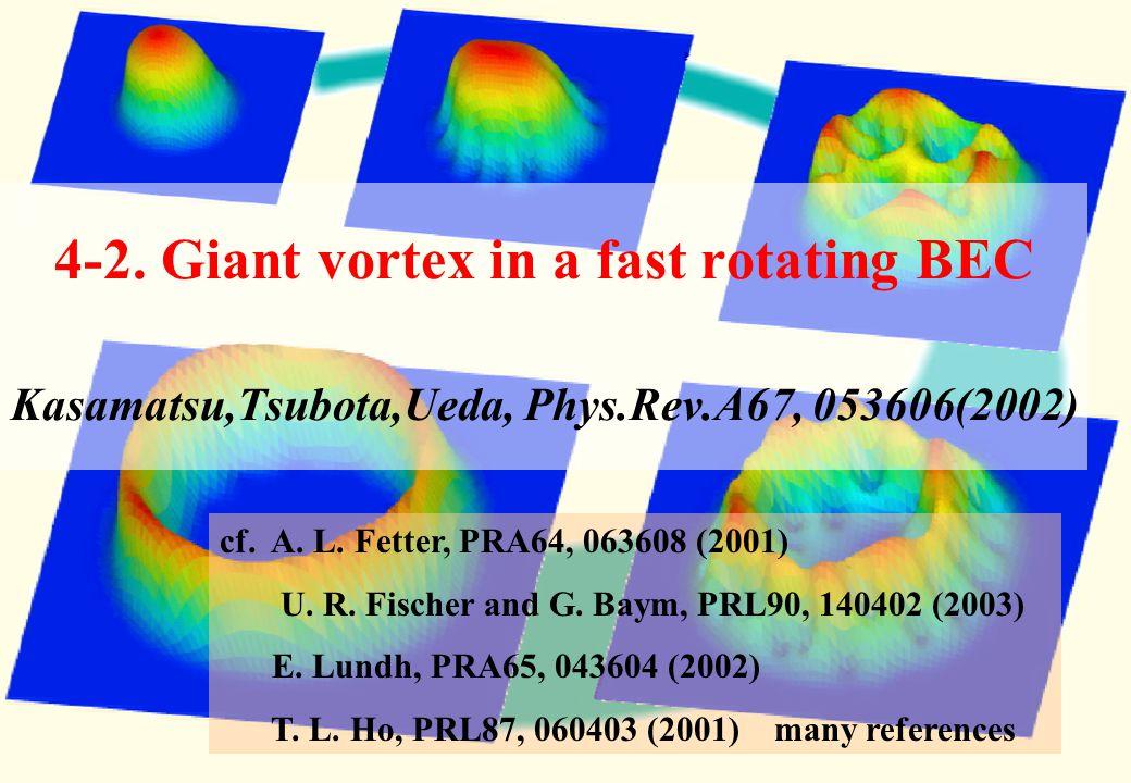 Three-dimensional calculation of the vortex lattice formation M. Machida (JAERI), N. Sasa, M.Tsubota, K.Kasamatsu Condensate density Grid : 128×128×12