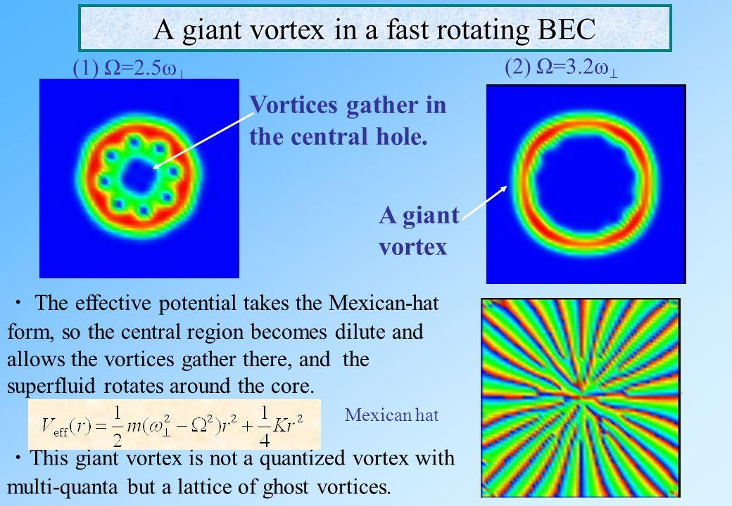 A fast rotating BEC in a quadratic-plus-quartic potential  A quadratic potential A centrifugal potential A quadratic-plus-quartic potential can trap