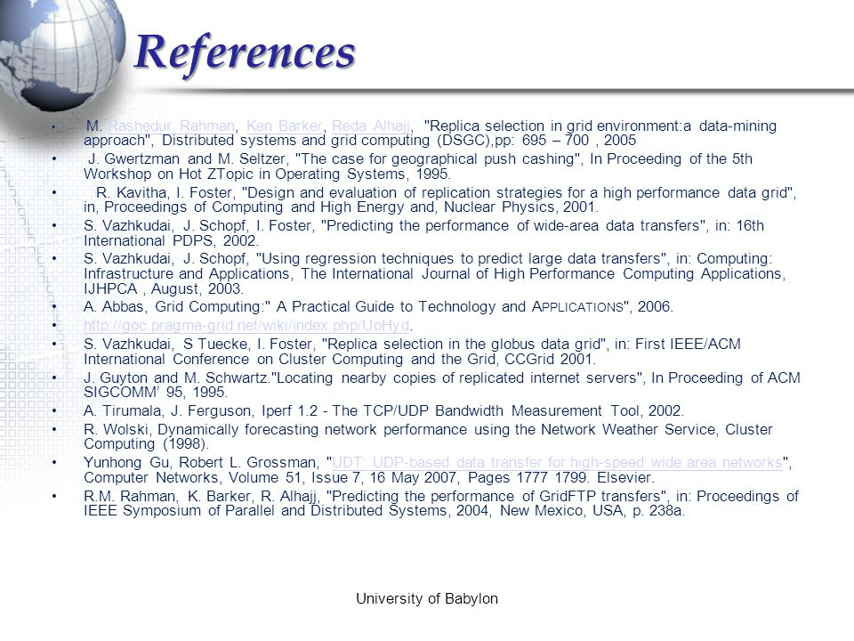 Related work  During 2001-2003, Sudharshan et al.