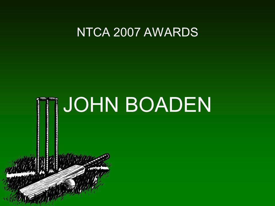 NTCA 2007 AWARDS JOHN BOADEN