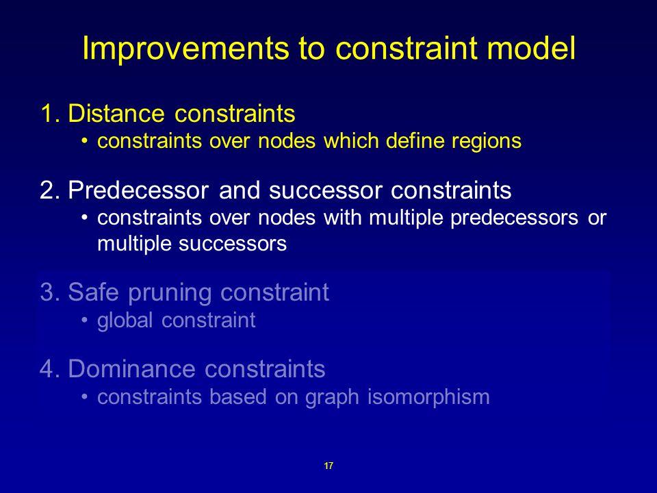 17 Improvements to constraint model 1.