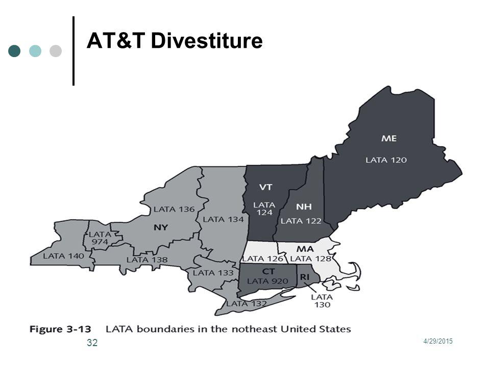 AT&T Divestiture 4/29/2015 32