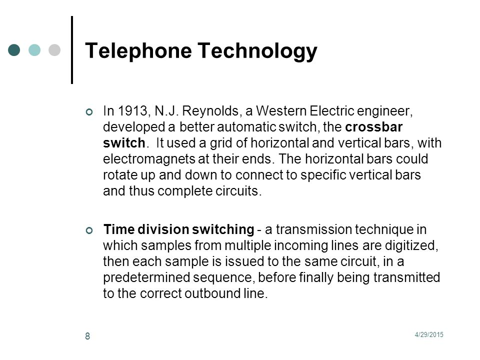 Telephone Technology In 1913, N.J.