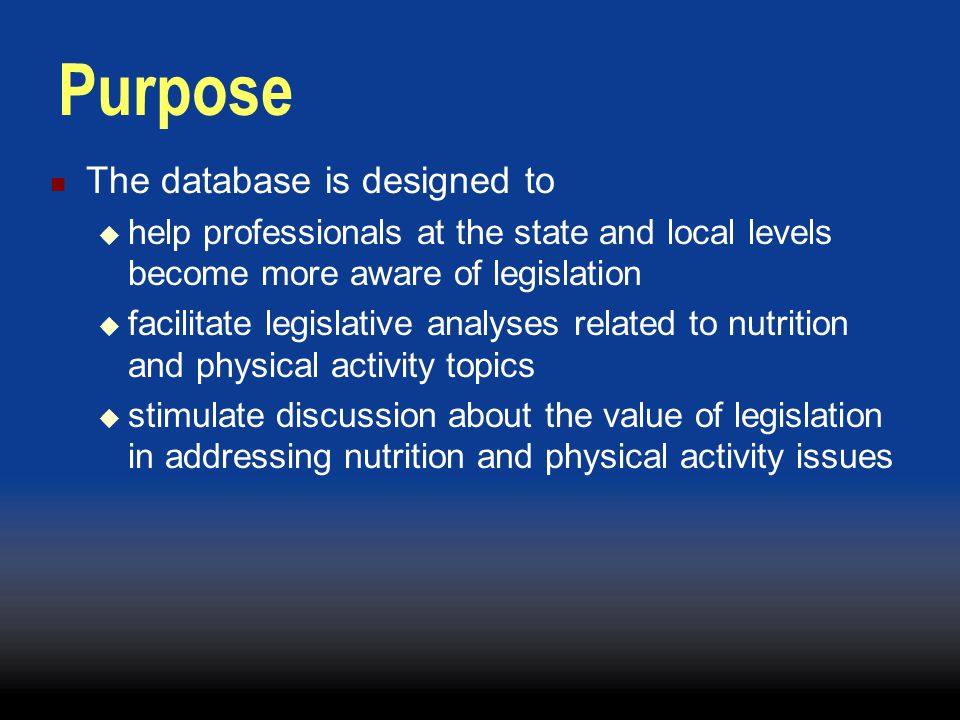 Legislative Database: Quality Assurance Formed database internal workgroup Developed protocol for entering and revising bills Reviewed and revised existing bills Cross reference bills in the database against subscription system