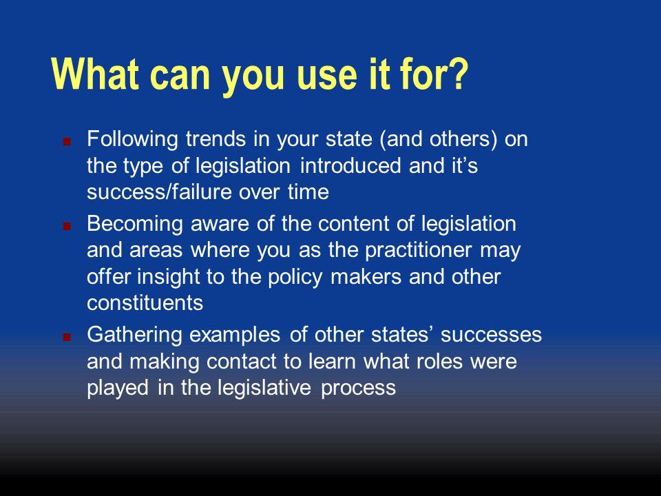 Why Legislation.
