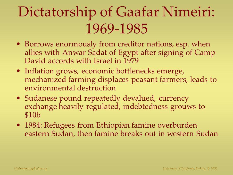 UnderstandingSudan.org University of California, Berkeley © 2006 SPLA - redemption Garang establishes alliances with powerful U.S.