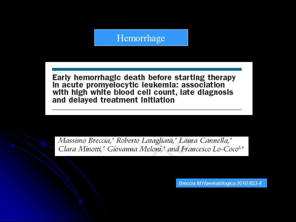 Hemorrhage Breccia M Haematologica 2010;853-4