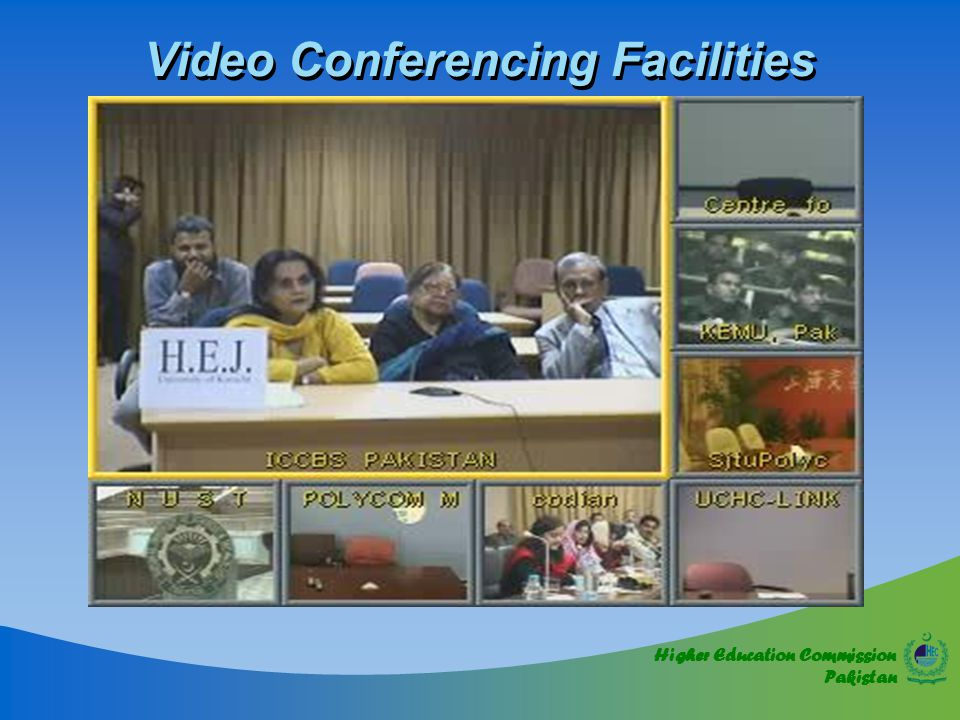 Higher Education Commission Pakistan Video Conferencing Facilities