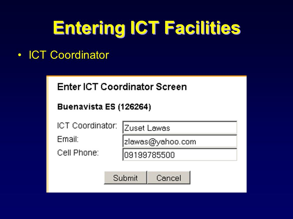 ICT Coordinator