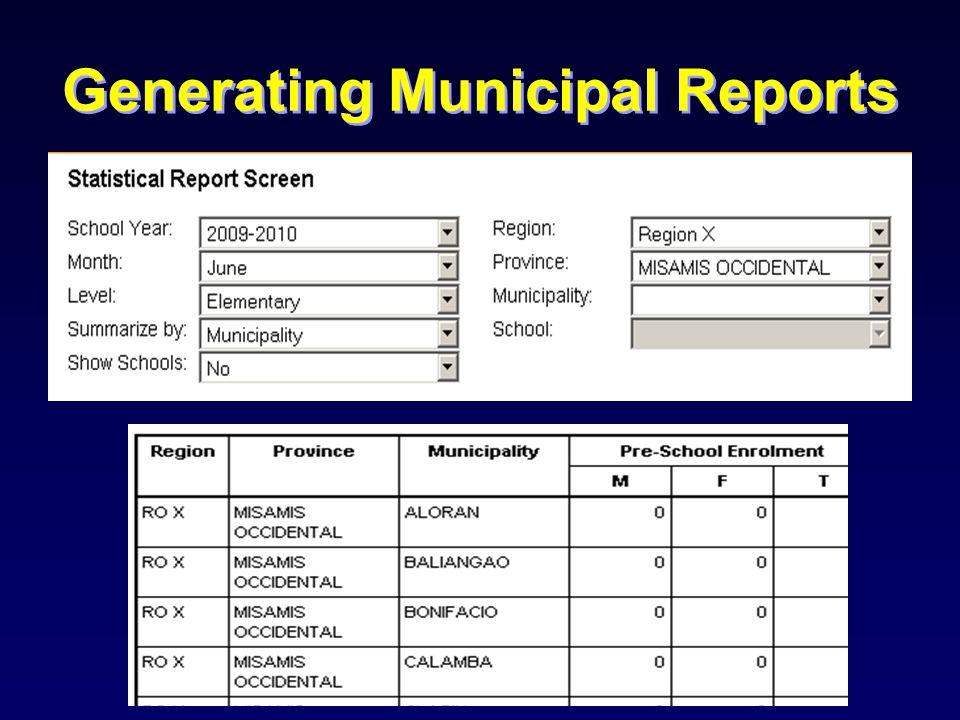 Generating Municipal Reports