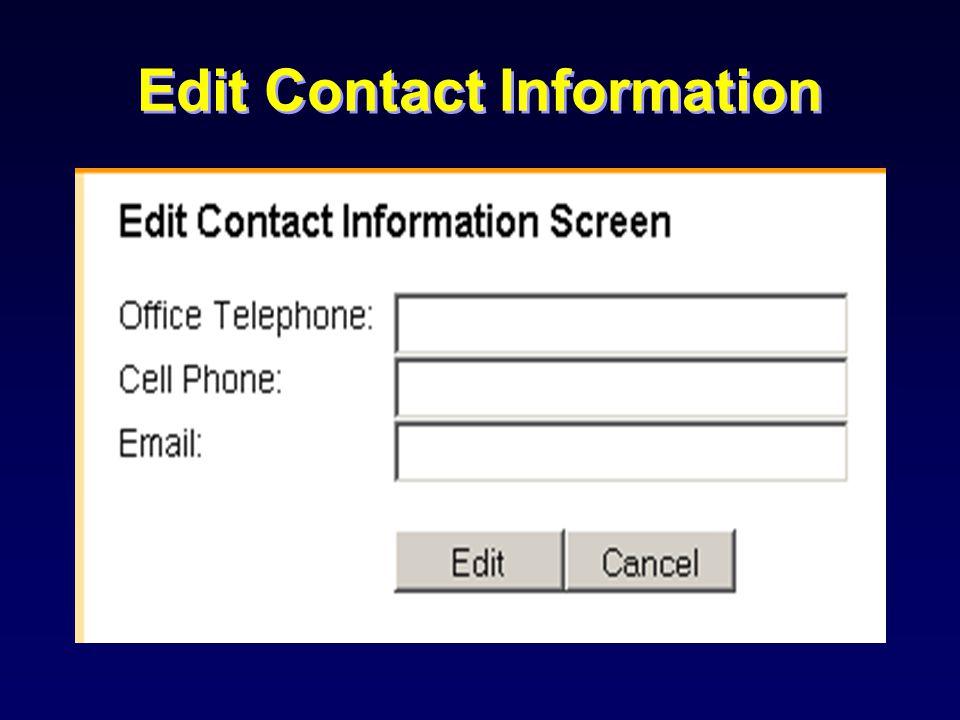 Edit School Information
