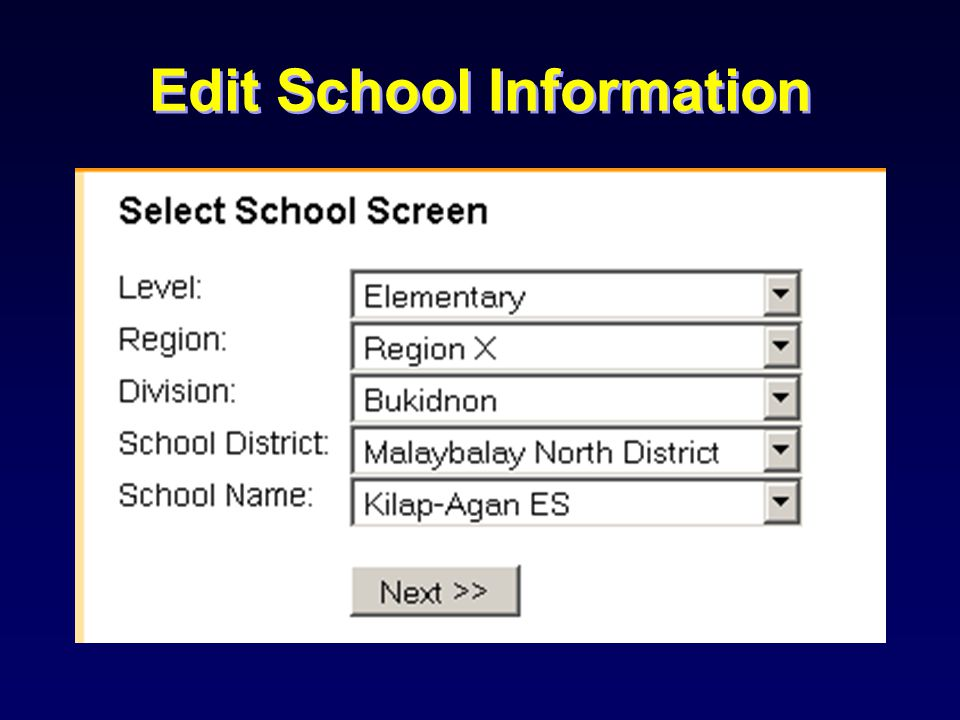 Generating Regional Reports
