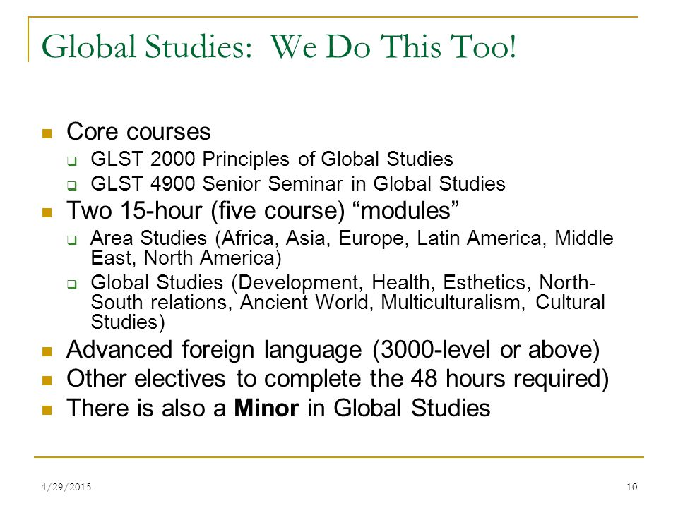 4/29/201510 Global Studies: We Do This Too.