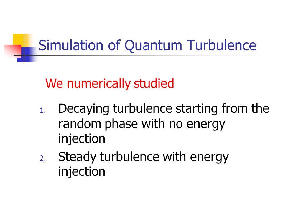 Simulation of Quantum Turbulence 1.