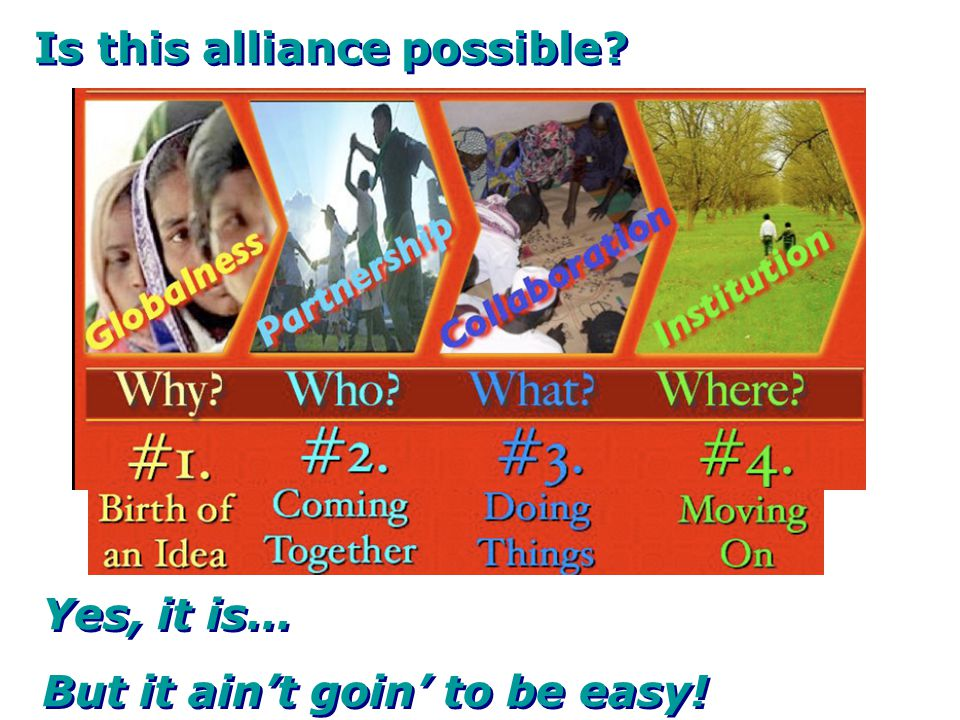 Is this alliance possible? Yes, it is… But it ain't goin' to be easy! Yes, it is… But it ain't goin' to be easy!