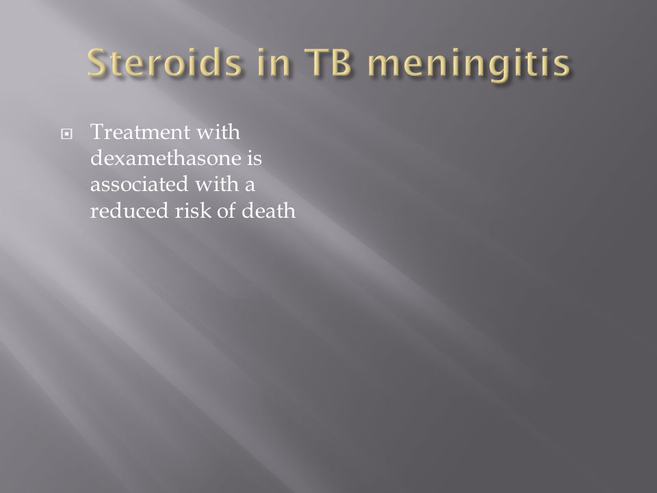 Treatment with dexamethasone is associated with a reduced risk of death