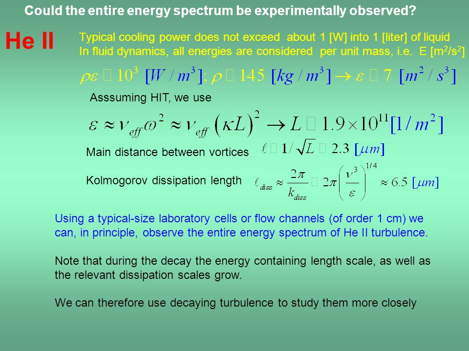Could the entire energy spectrum be experimentally observed.