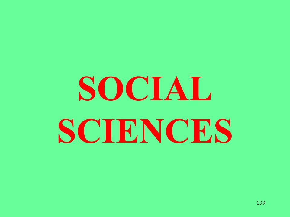 SOCIAL SCIENCES 139