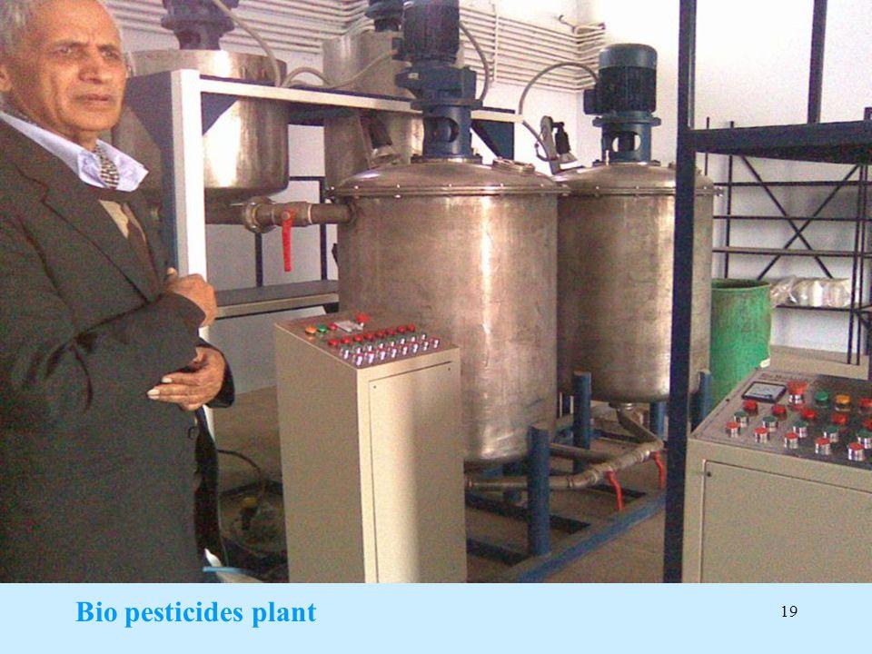 19 Bio pesticides plant