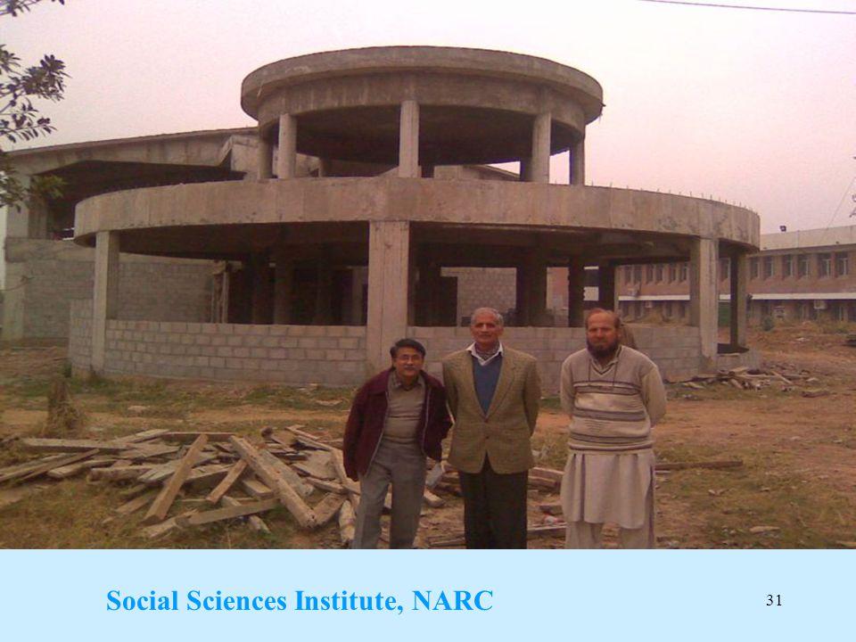 31 Social Sciences Institute, NARC