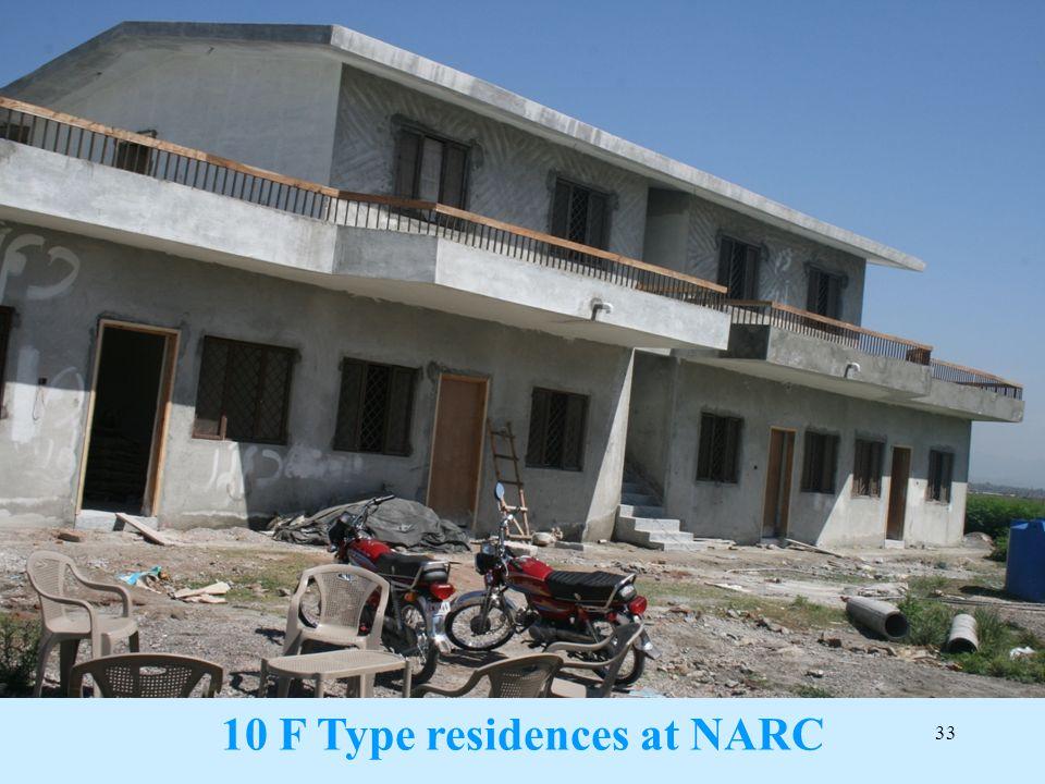 33 10 F Type residences at NARC