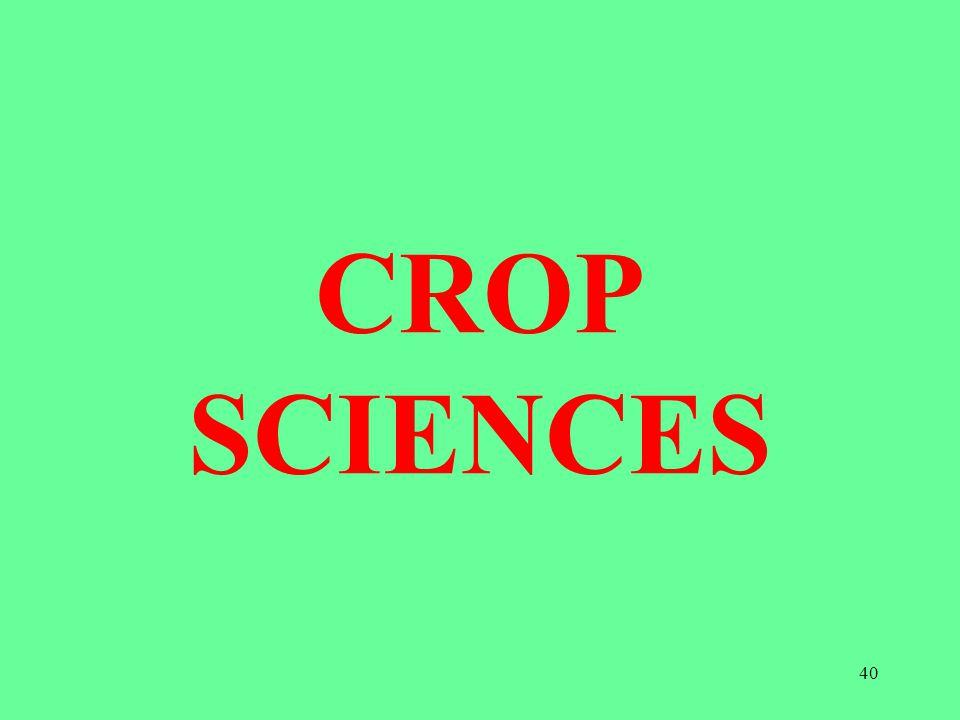 CROP SCIENCES 40