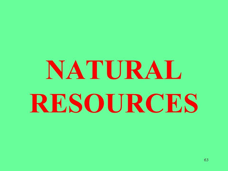 NATURAL RESOURCES 63