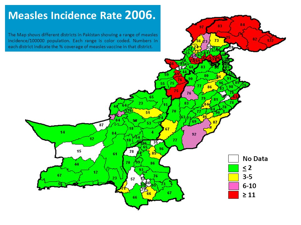 Measles Incidence Rate 2006.