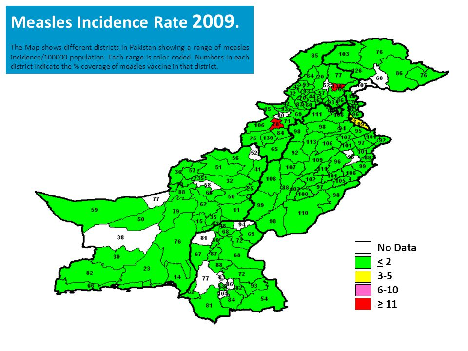 Measles Incidence Rate 2009.