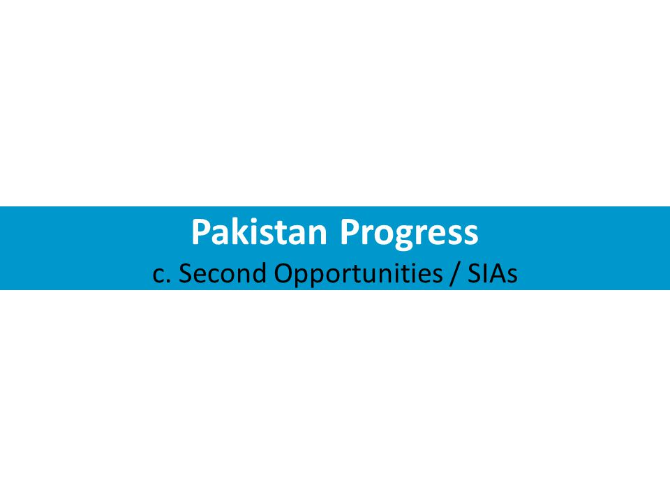 Pakistan Progress c. Second Opportunities / SIAs