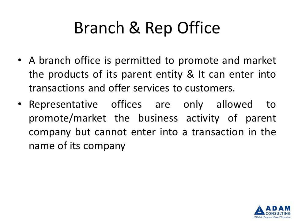 Document Requirement Branch from Abroad Business Plan / Profile Certificate of Registration Memorandum & Articles of Association Board Resolution Specimen Signatures of the Manager Manager Passport Copy Audit Report of Parent Company