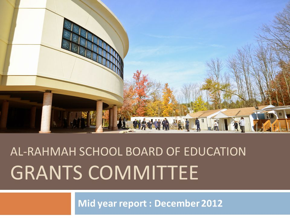 ARS BOE Grants Committee Sr.Zoobia Chaudhry (Chair) Sr.