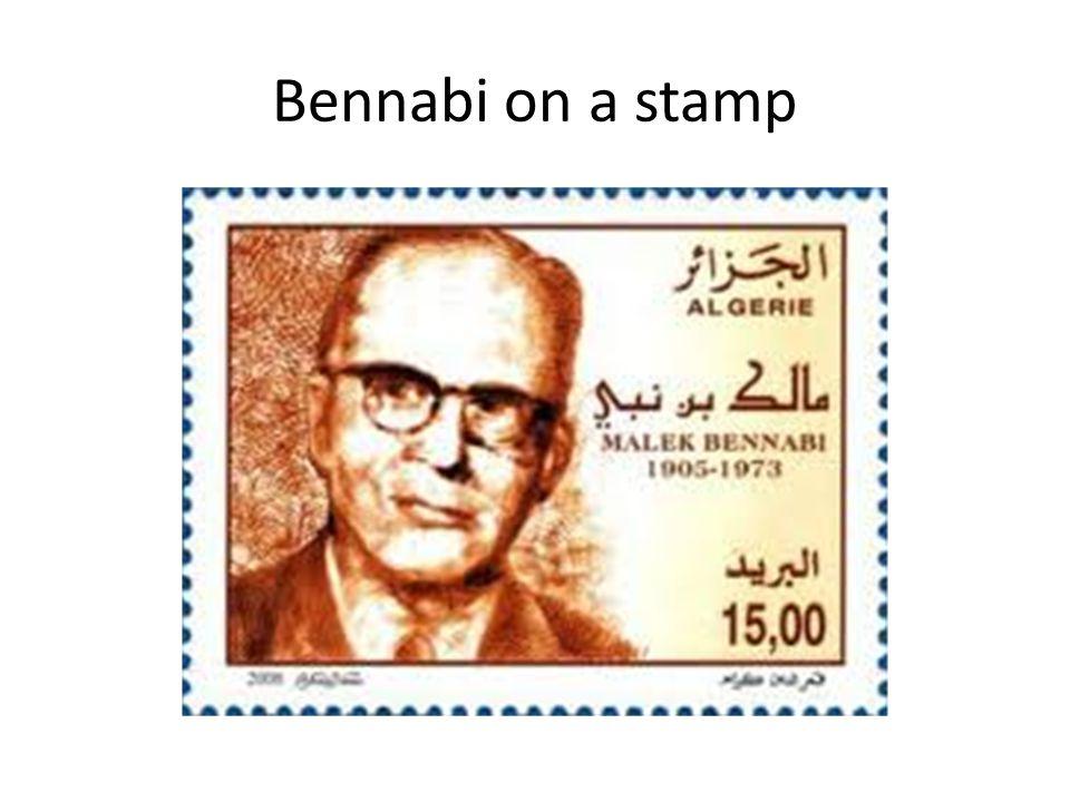 Bennabi on a stamp