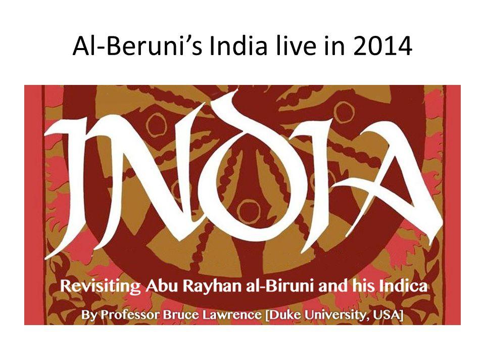 Al-Beruni's India live in 2014