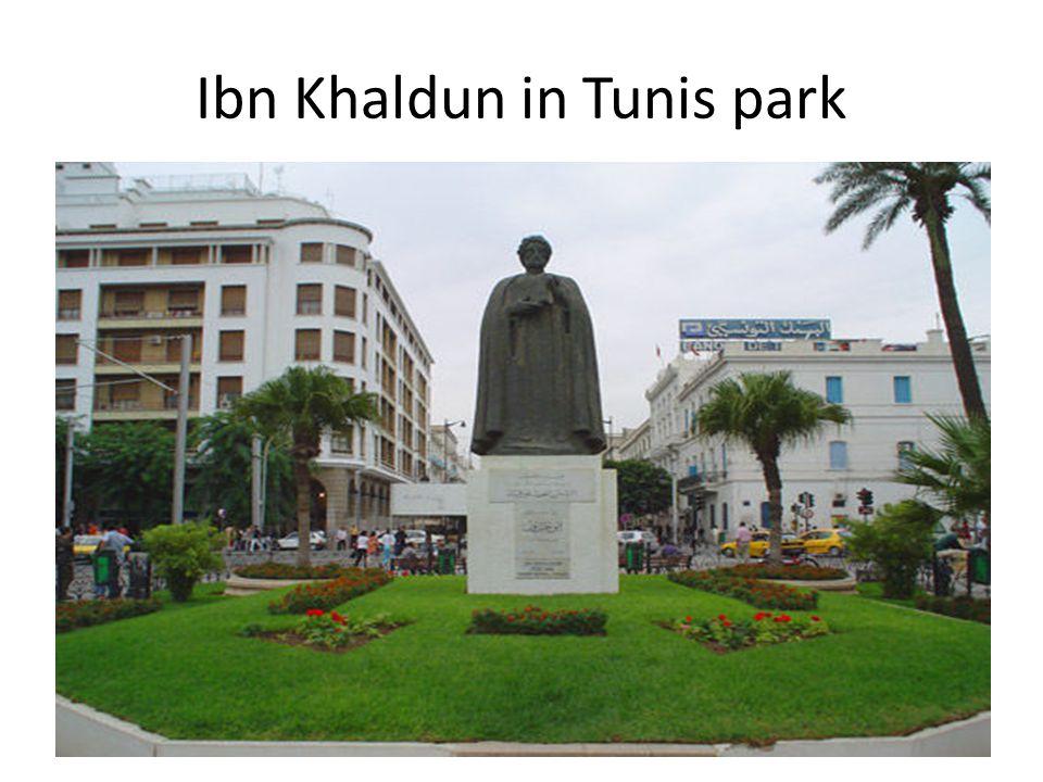 Ibn Khaldun in Tunis park