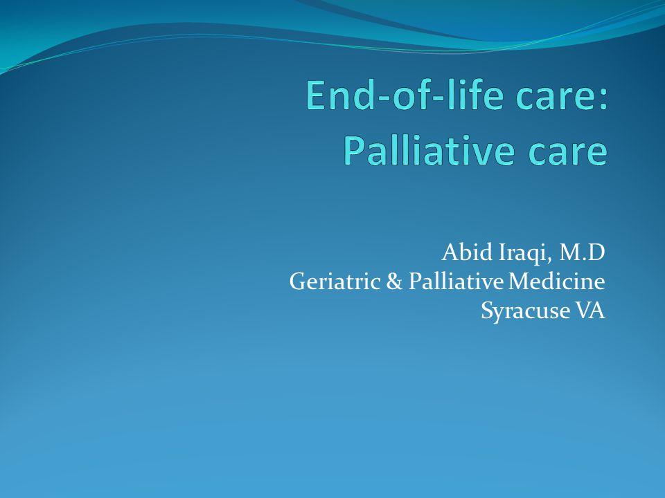 Abid Iraqi, M.D Geriatric & Palliative Medicine Syracuse VA