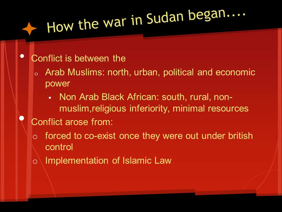 How the war in Sudan began....