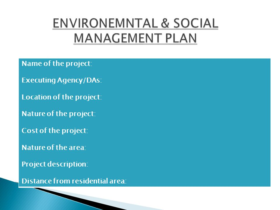 Name of the project: Executing Agency/DAs: Location of the project: Nature of the project: Cost of the project: Nature of the area: Project descriptio
