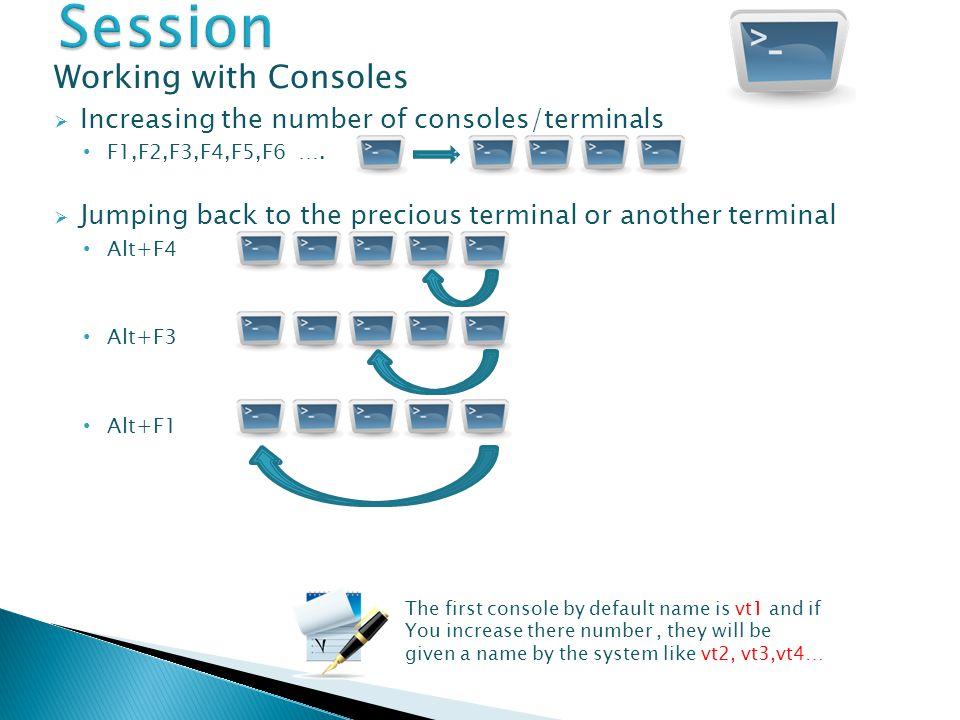 To end a Session COMMANDS logout exit Ctrl+D