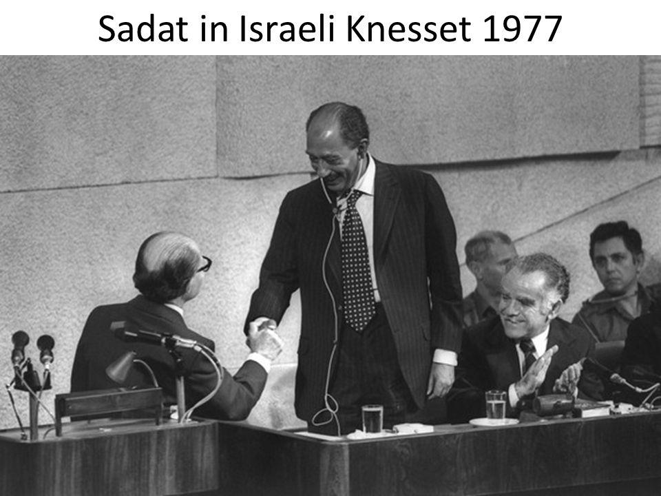 Sadat in Israeli Knesset 1977
