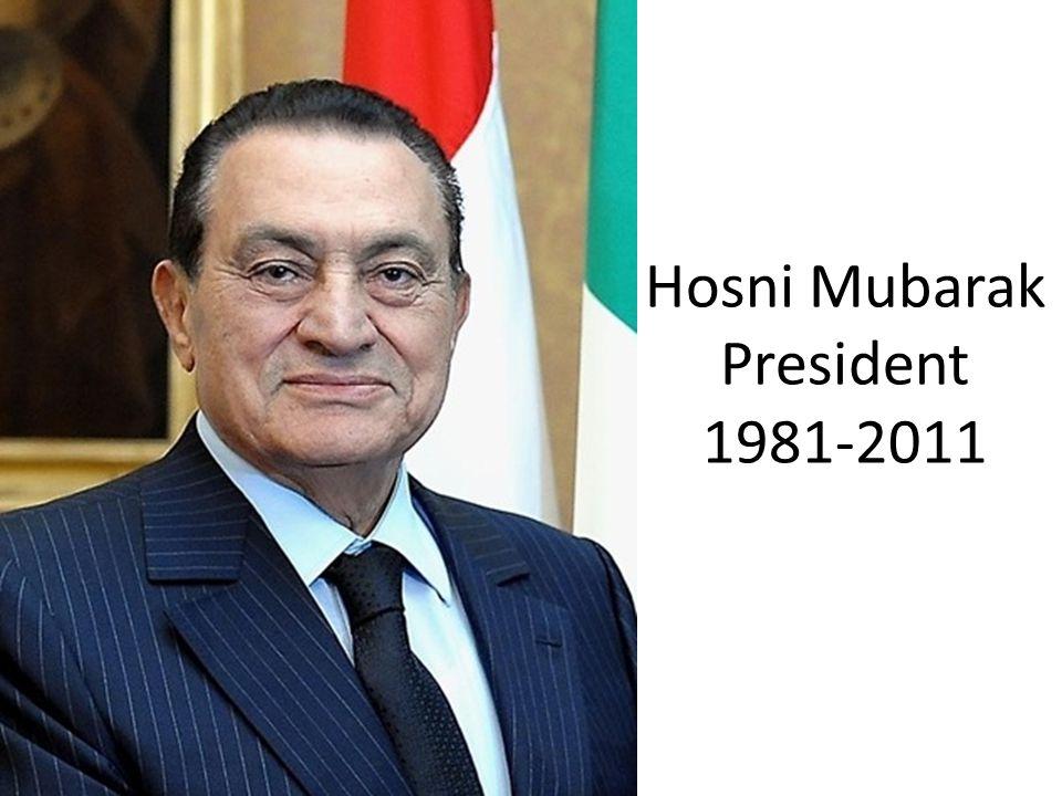 Hosni Mubarak President 1981-2011