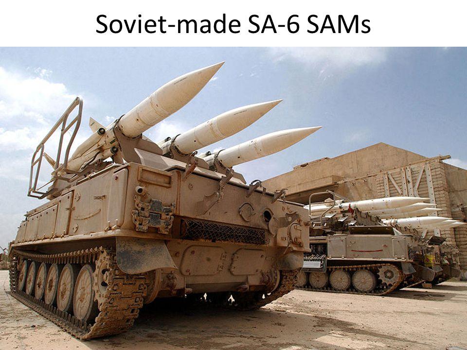 Soviet-made SA-6 SAMs