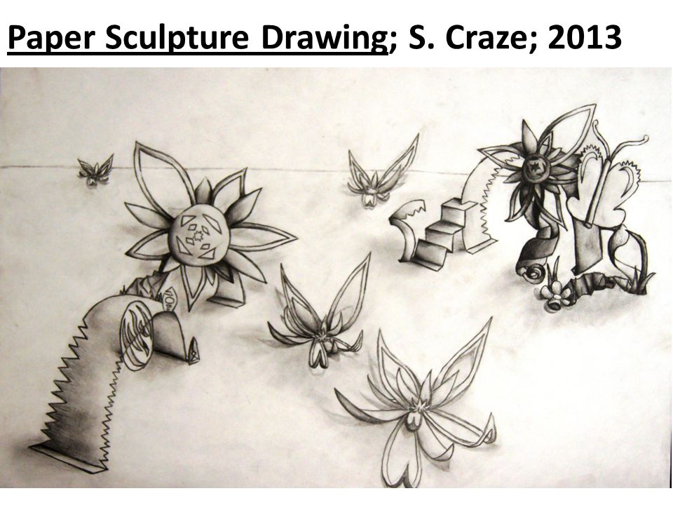 Paper Sculpture Drawing; S. Craze; 2013