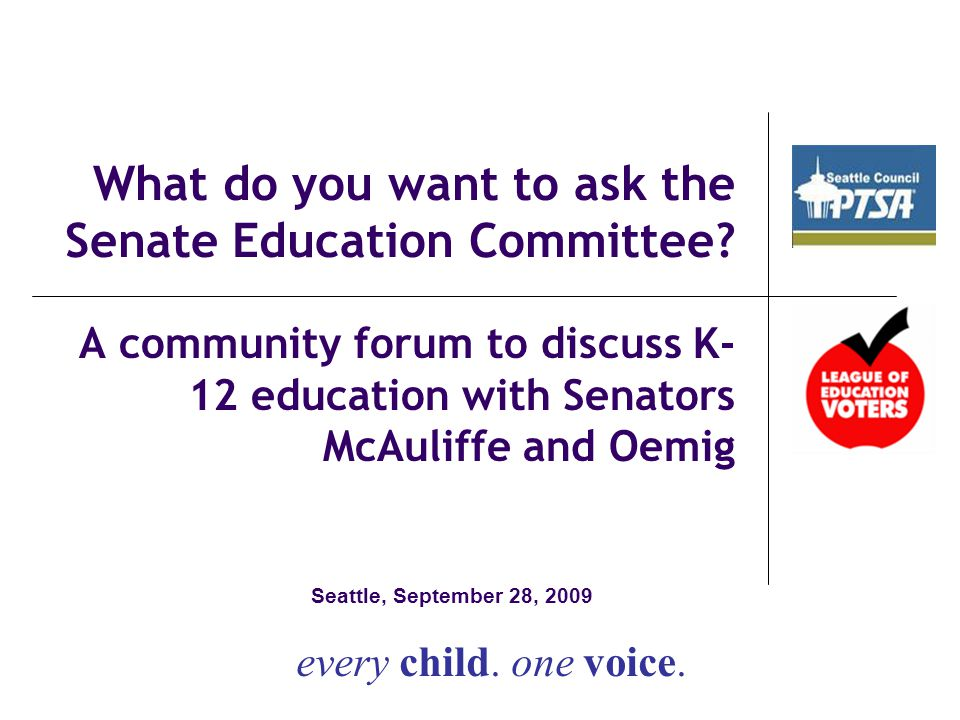 What do you want to ask the Senate Education Committee.