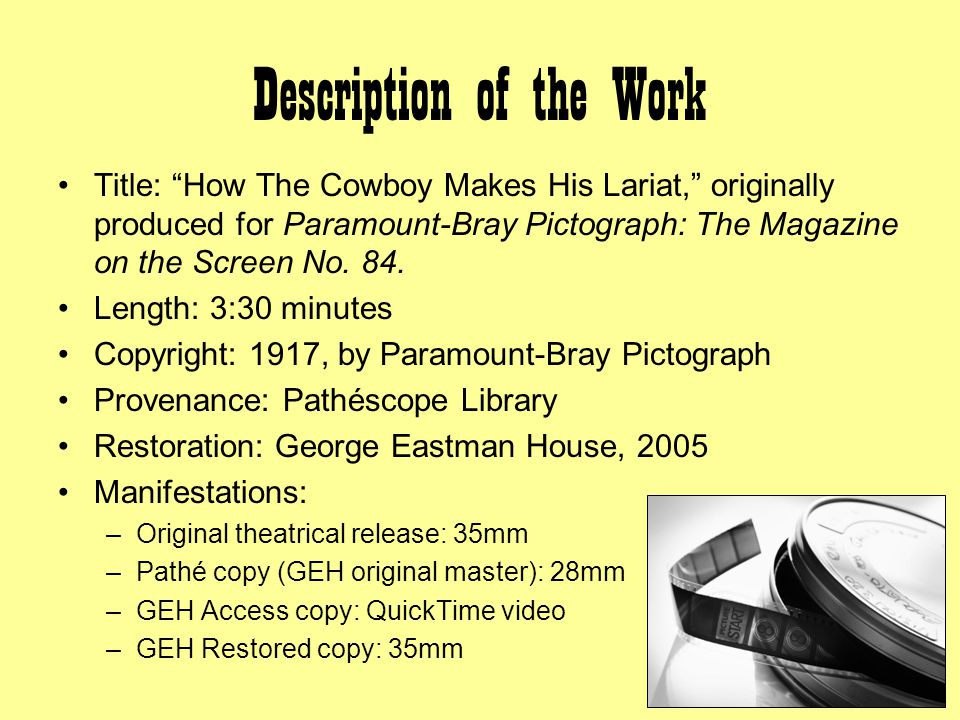 Filmography: Structure Generally Pictographs weekly editions included three live-action segments and one animated cartoon.